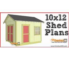 Best 10x12 shed plans with loft