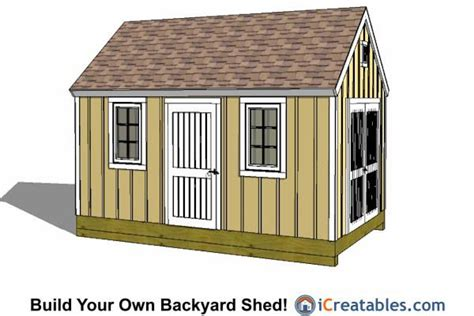 10x16 Colonial Shed Plans