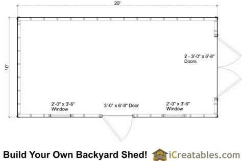 10x20-Shed-Floor-Plans