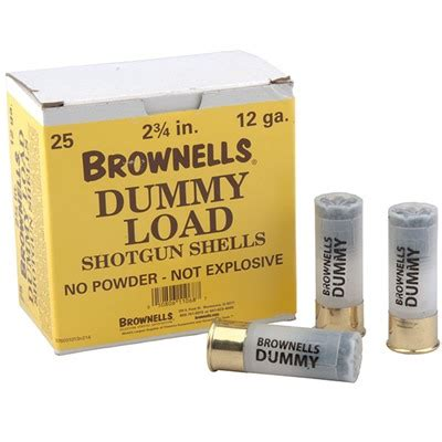 12 Ga Shotgun Dummy Rounds 12 Gauge Action - Brownells Dk.