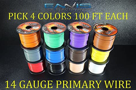 12 GAUGE WIRE ENNIS ELECTRONICS PICK 4 COLORS 100 FT SPOOLS PRIMARY REMOTE HOOK UP AWG COPPER CLAD (PICK 4 ROLLS)