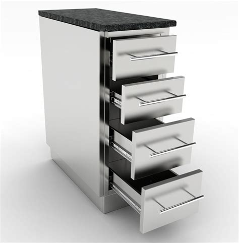 12 Inch 4 Drawer Base Cabinet