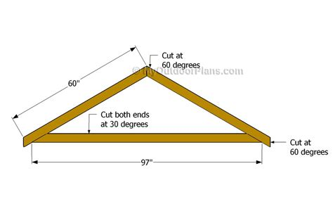12 Shed Roof Rafter Plans 7 12