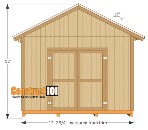 12 X 16 Barn Shed Plans