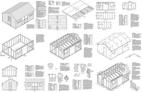 12 X 16 Saltbox Style Storage Shed Project Plans