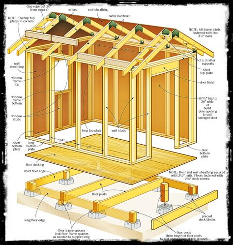 12 X 8 Storage Shed Plans