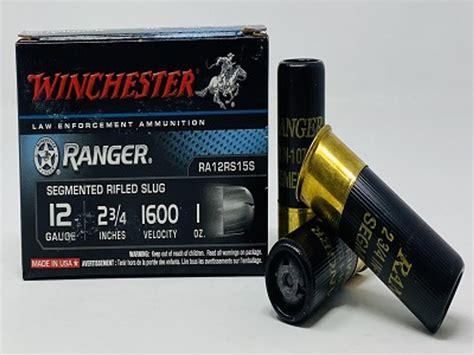 12 Gauge Segmented Slug Winchester Ranger Ammo