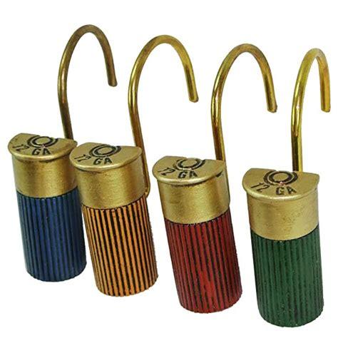 12 Gauge Shotgun Shell Shower Curtain Hooks