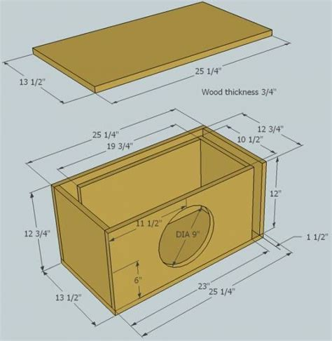 12-Inch-Subwoofer-Box-Plans