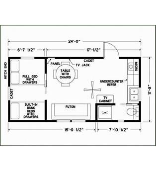 12 X 24 Cabin Plans