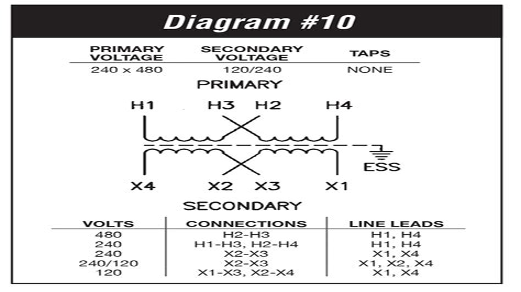 120 240v Transformer Wiring Diagram