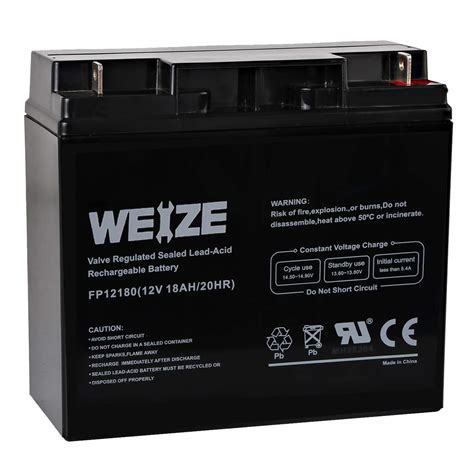 12v 18ah Sealed Lead Acid Replacement Battery