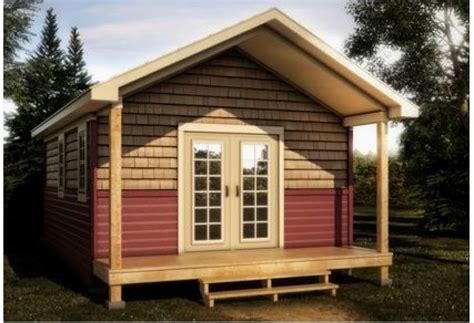 12x12 Bunkie Plans With A Kitchen