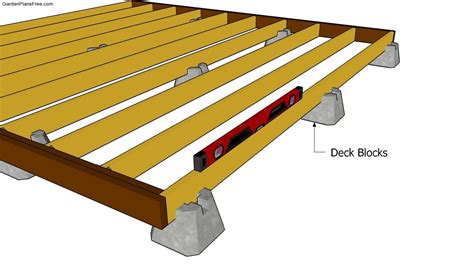 12x12 Free Standing Deck Plans