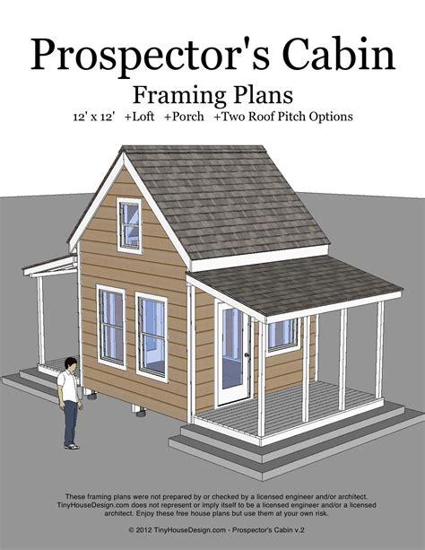12x12-Cabin-With-Loft-Plans