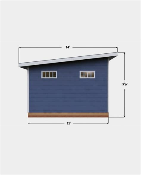 12x14-Lean-To-Shed-Plans