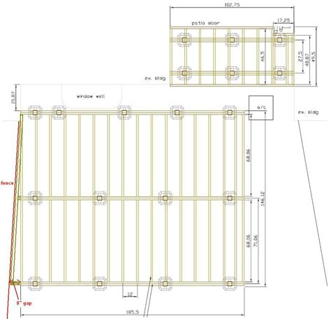 12x16 Floating Deck Plans