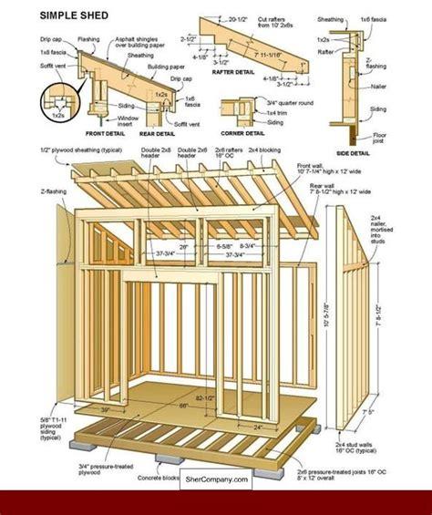 12x16-Slant-Roof-Shed-Plans