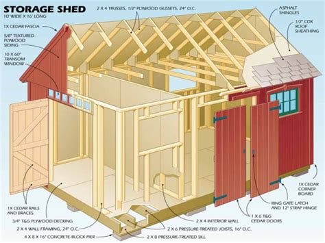 12x16 storage shed plans Image