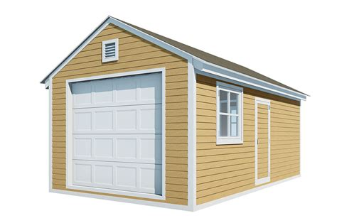 12x20 Shed With Garage Door Plans
