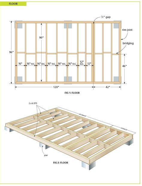12x24 Freestanding Deck Plans