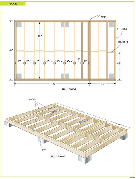 12x24 deck plans Image
