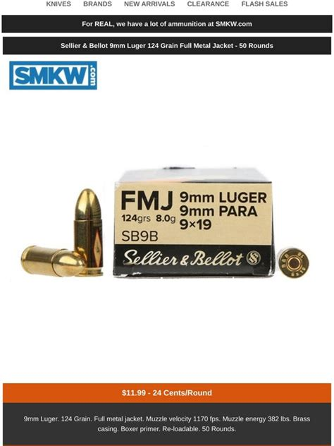 147 Grain 9mm Ammo At Smokey Moutains Knife Works
