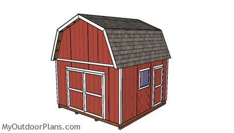 14x14-Gambrel-Shed-Plans