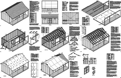 14x20 Shed With A Porch Plans Free