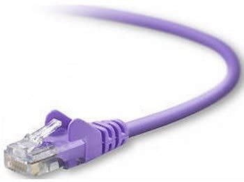 15FT CAT5E SNAGLESS PATCH CABLE, UTP, PURPLE PVC JACKET, 24AWG, T568B, 50 MICRON - A3L791-15-PUR-S