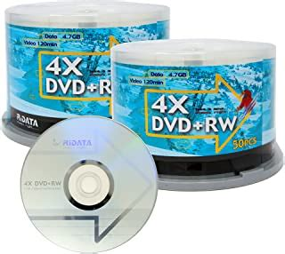 15PCS POLAROID BRANDED DVD+RW IN CAKEBOX, 4X, 4.7GB, 120MIN POLDVD+RW