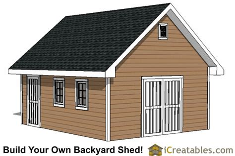 16-By-16-Storage-Shed-Plans