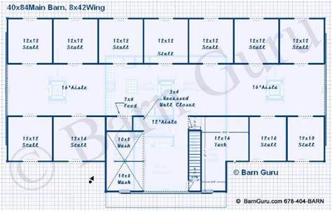 16-Stall-Horse-Barn-Plans