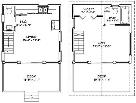 16 x 16 cabin plans Image