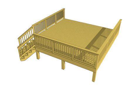 16 x 16 deck plans Image