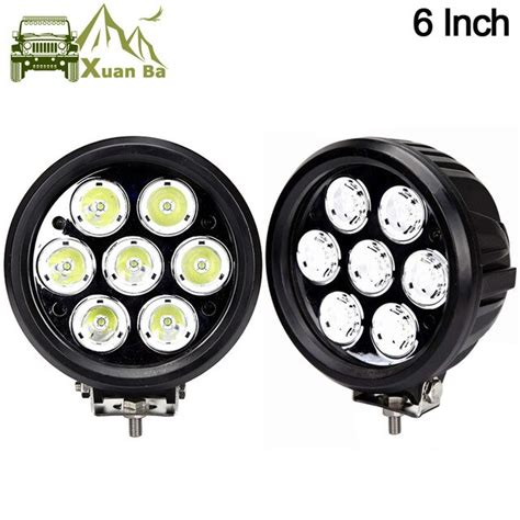 16008 Xuanba 2pcs 6 Inch 70w Round Led Work Driving Light For Atv Truck T Item