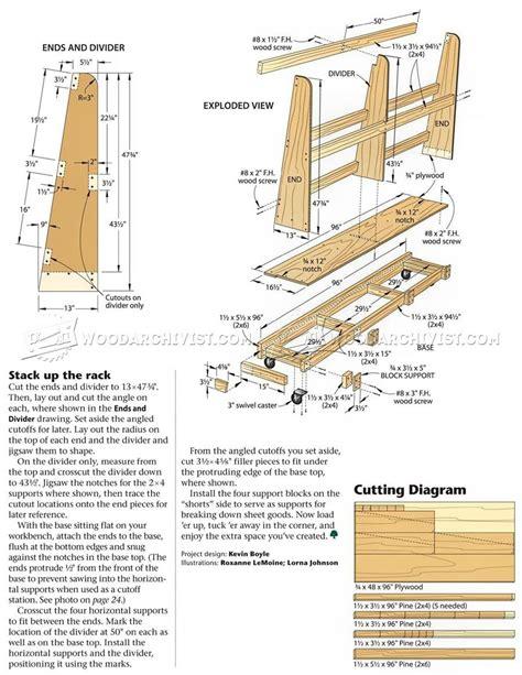 1682-Sheet-Storage-Rack-Plans