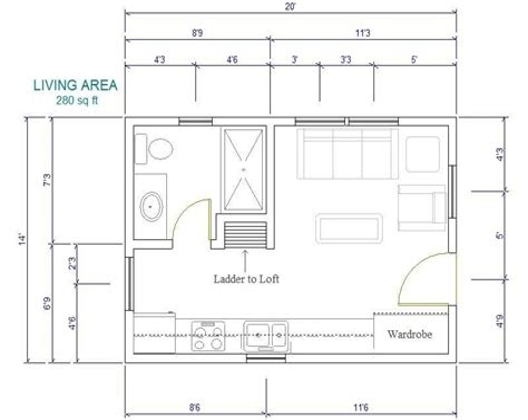 16x16-Cabin-With-Loft-Plans