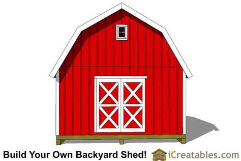 16x16-Gambrel-Shed-Plans