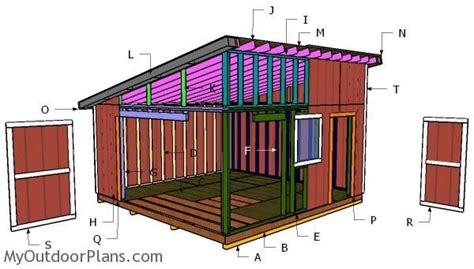 16x16-Lean-To-Shed-Plans