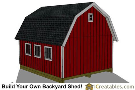 16x20 Gambrel Barn Plans