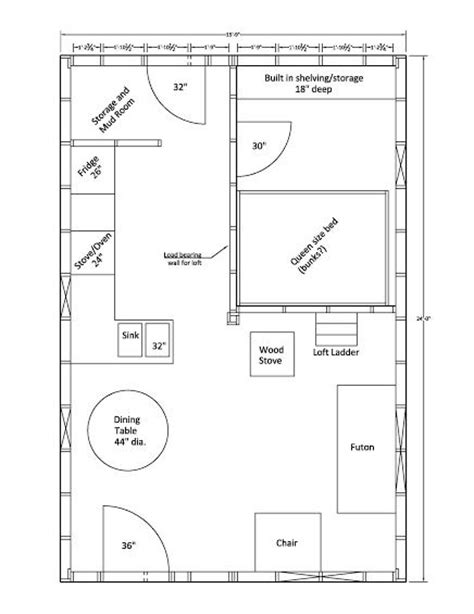 16x24 2 story cabin plans Image