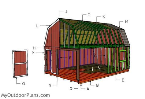 16x24-Shed-Roof-Plans