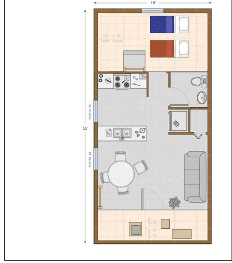 16x32 Shed Cabin Floor Plans