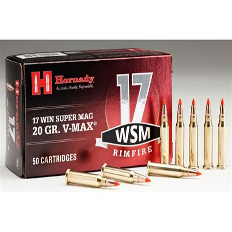 17 Winchester Super Mag Rimfire Ammo