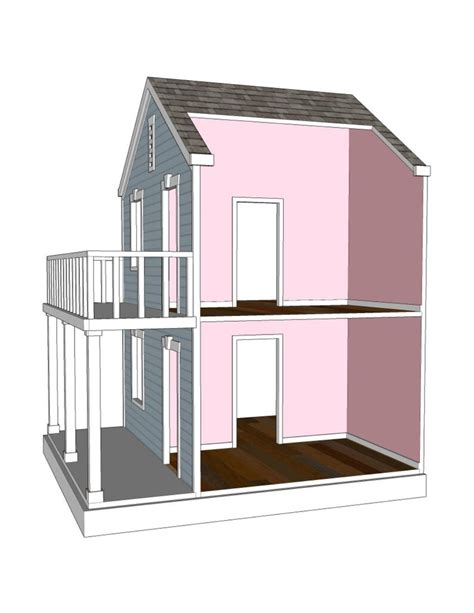 18 Doll Dollhouse Plans