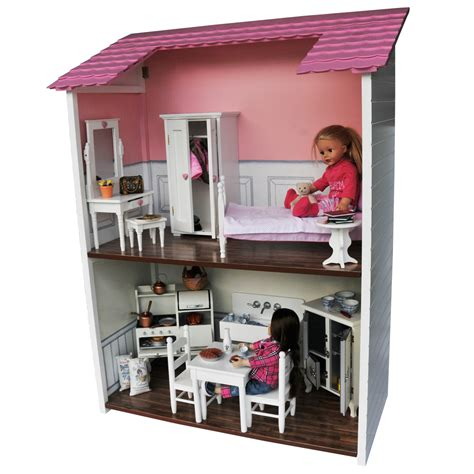 18 In Doll House For Two Dolls Sitting