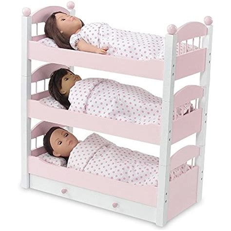 18 Inch Doll Furniture Triple Bunk Bed
