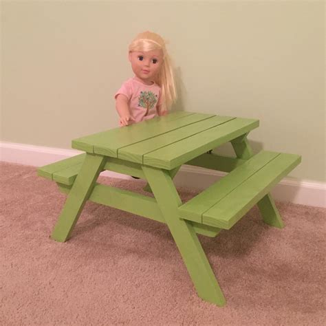 18 Inch Doll Picnic Table Plans
