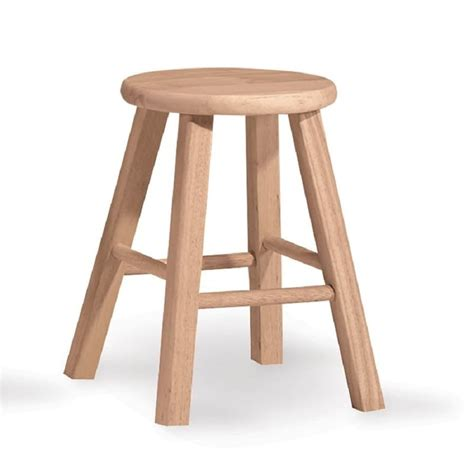 18 Unfinished Wood Stools Plans